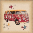 VW Bus Flower  Gobelin Webware Lizenzware